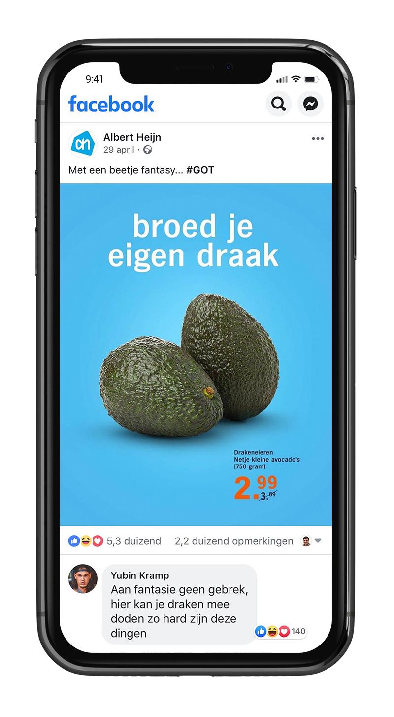 Inhaker GOT Albert Heijn