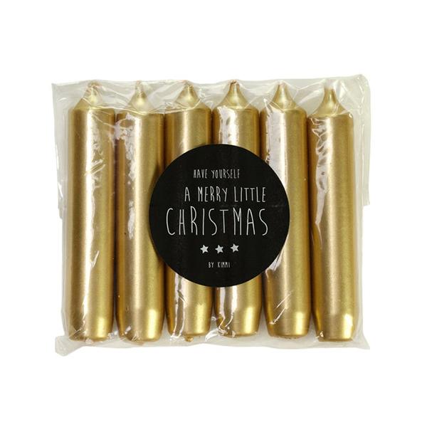 Kerst gouden tafelkaars